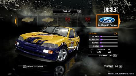 Need for Speed Shift Car List - NFSUnlimited