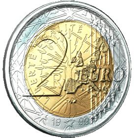 Euro Coin Rotating 2 Dollar Animated Gif