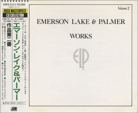Emerson Lake & Palmer Works Volume 2 Japanese CD album
